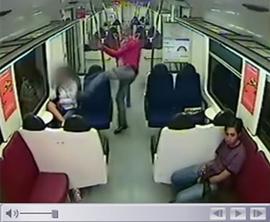 Agresión y pasividad en el metro de Barcelona